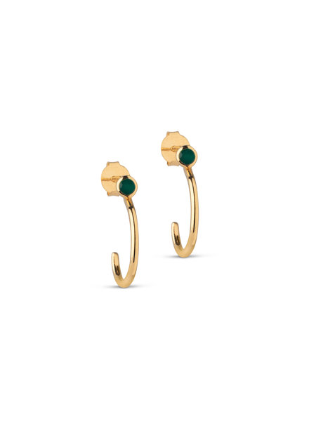 Enamel Meera oorbellen | goud
