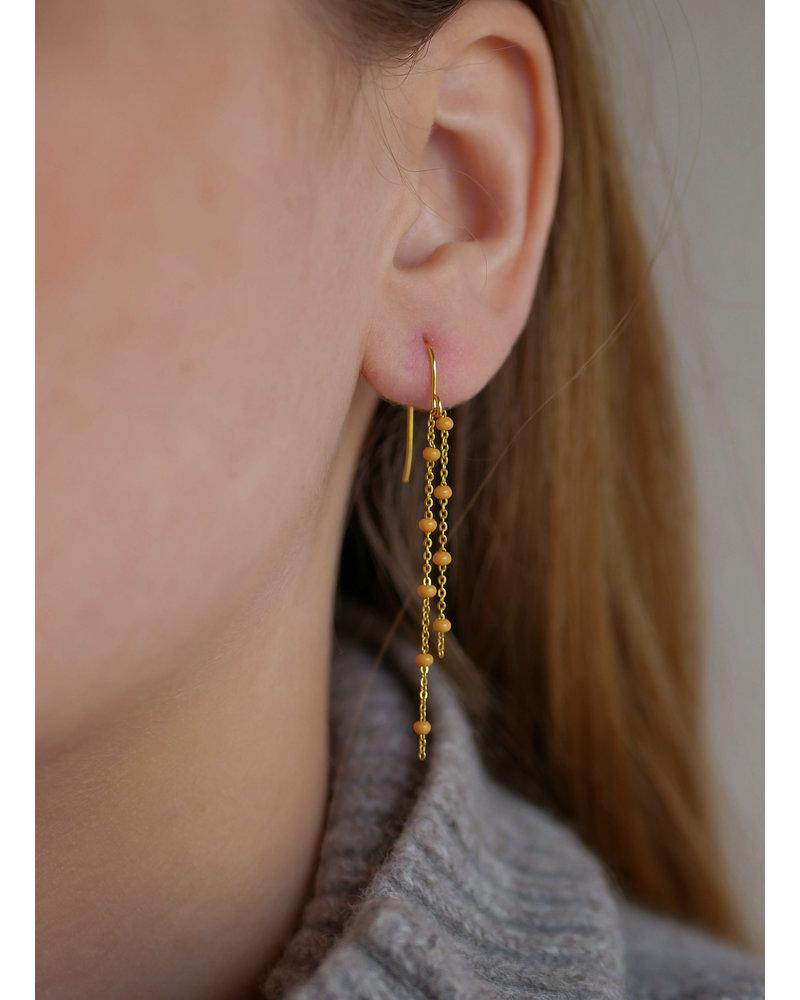 Enamel Enamel Fura oorbellen   goud