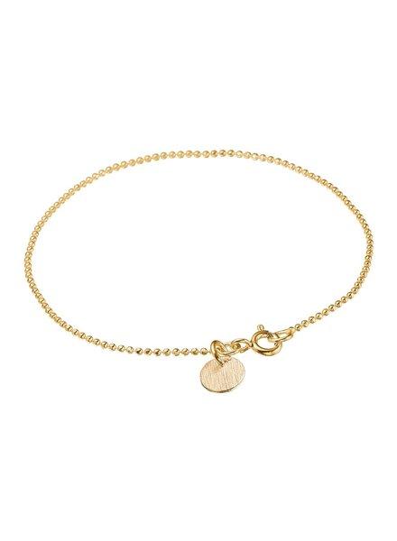 Enamel Ballchain armband | goud