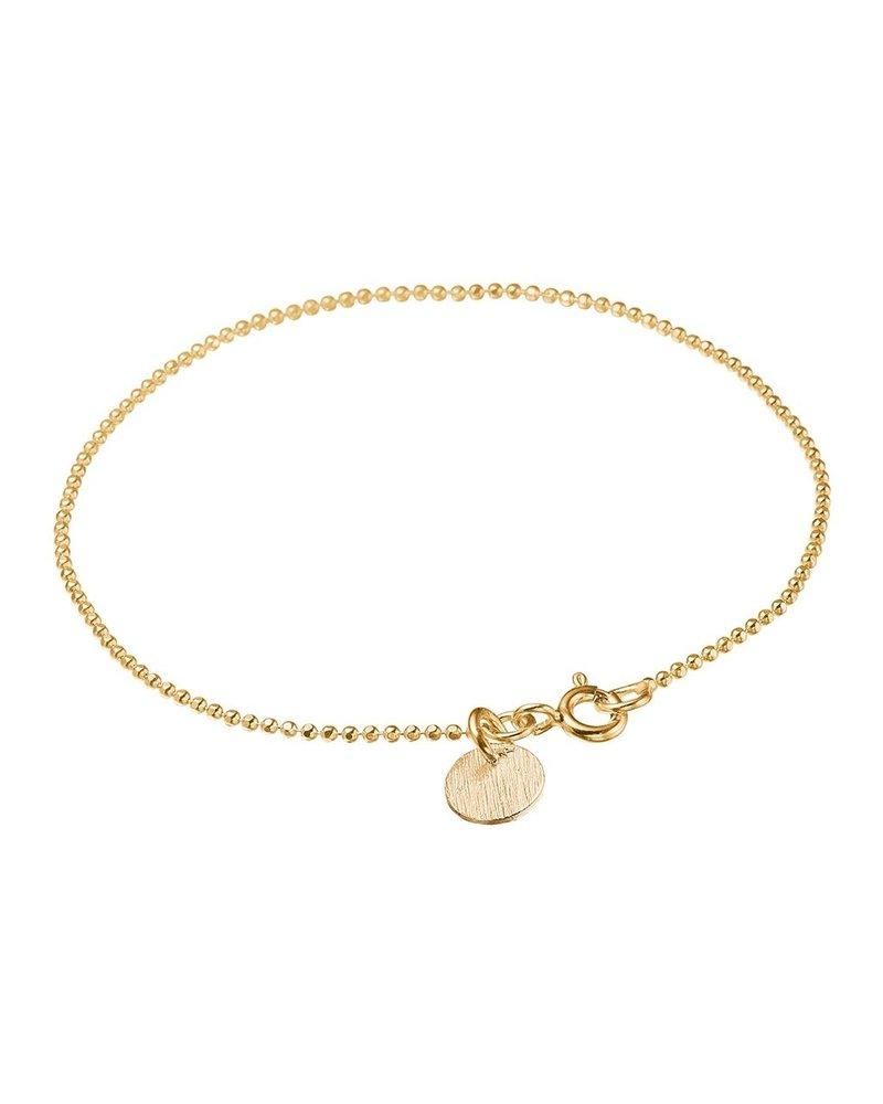 Enamel Enamel Ballchain armband | goud