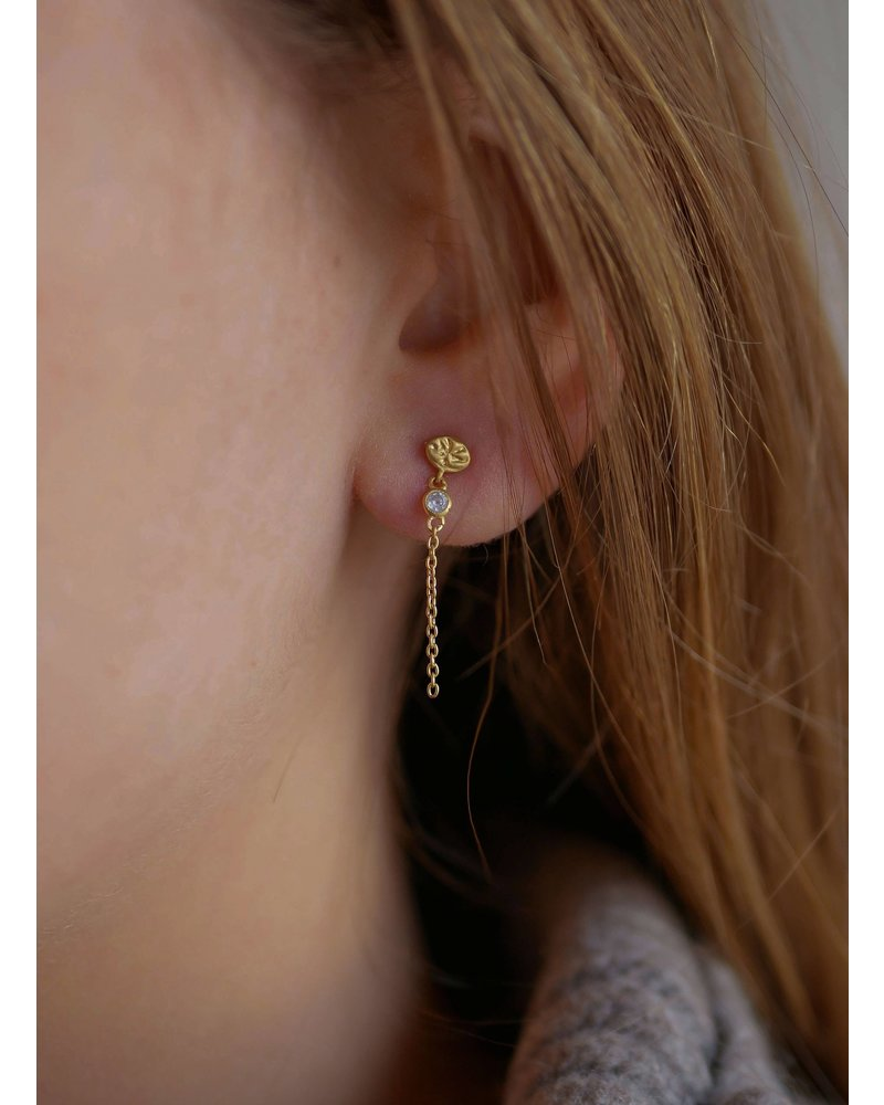 Enamel Enamel Melodie oorbellen | goud