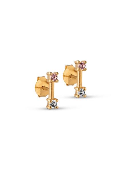 Enamel Feluca oorbellen | goud