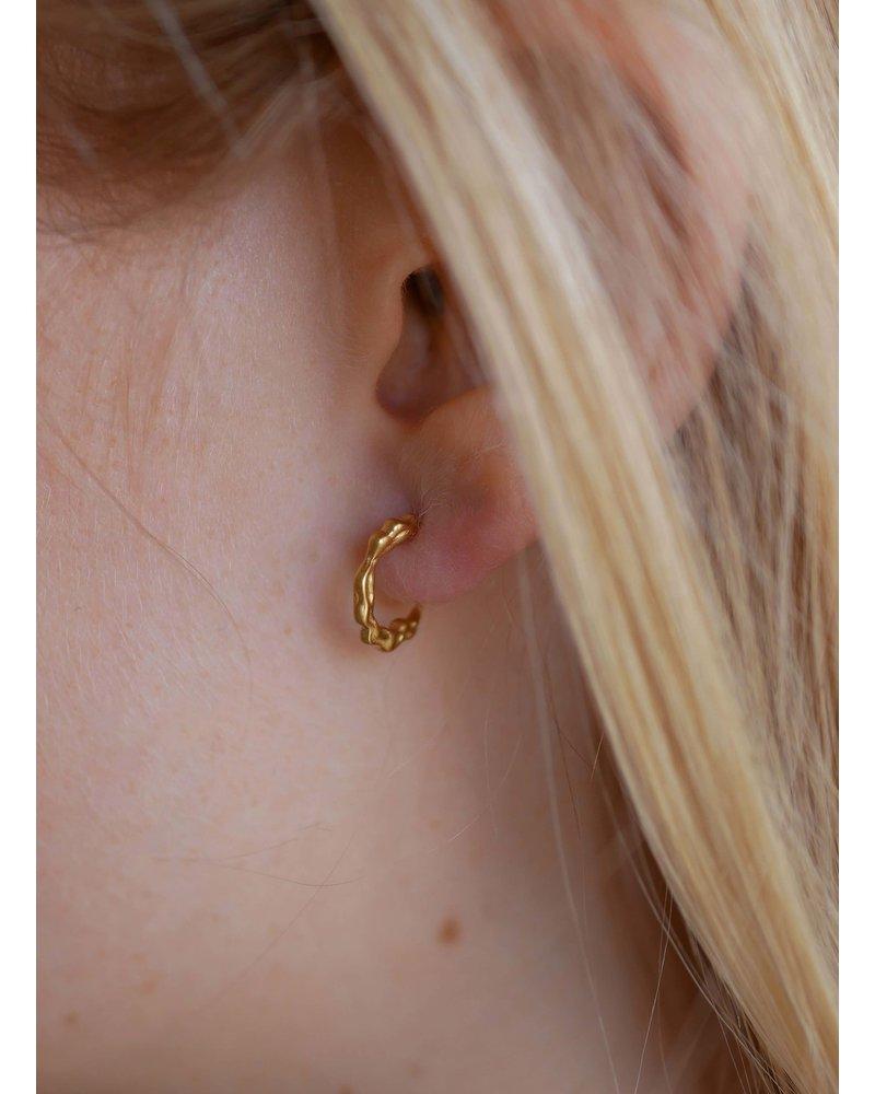 Enamel Enamel Mini Leone oorbellen   goud