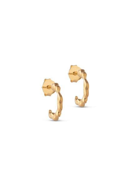 Enamel Mini Leone oorbellen   goud