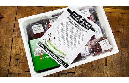 Aaibaar Vlees Waards rund box Large - ca. 10 kg
