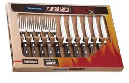 Tramontina Churrasco 12 delig bestekset steakmessen -en vorken