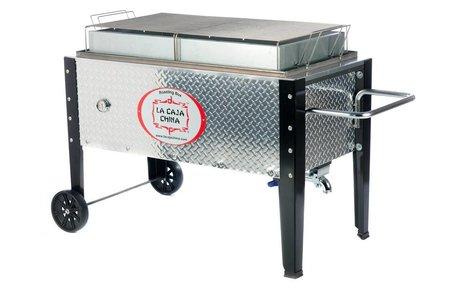"""La Caja China SP-300DP roasting box """"Zilver"""