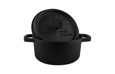 The Windmill - genuine dutch cast iron Gietijzeren BBQ pan Klein