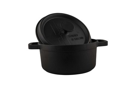 The Windmill - genuine dutch cast iron Gietijzeren BBQ pan medium