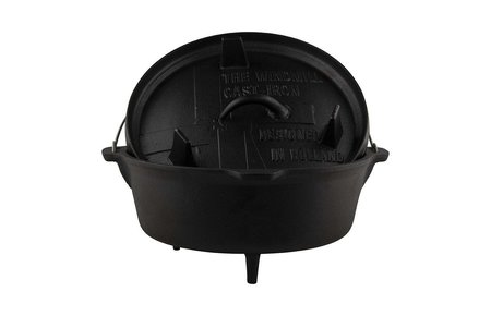 The Windmill - genuine dutch cast iron Dutch oven 6 quarts - met pootjes