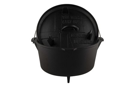 The Windmill - genuine dutch cast iron Dutch oven 9 quarts - met pootjes