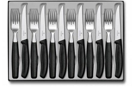 Victorinox 12-delig tafelset zwart heft