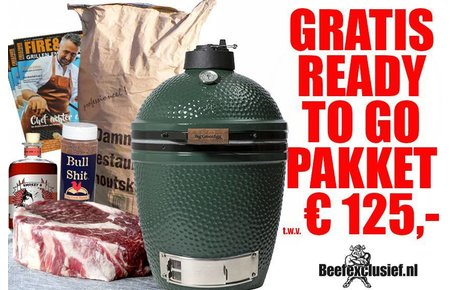 Big Green Egg GRATIS READY TO GO PAKKET t.w.v. 125,- bij  BGE medium