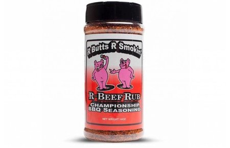 R Butts R Smokin R Beef Rub shakers