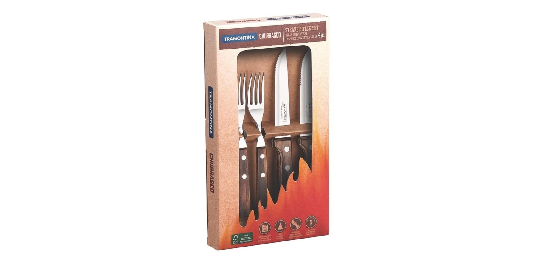 4 delig steak bestekset 12 cm