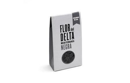 Flor del Delta Zwarte zoutflakes 125 gram
