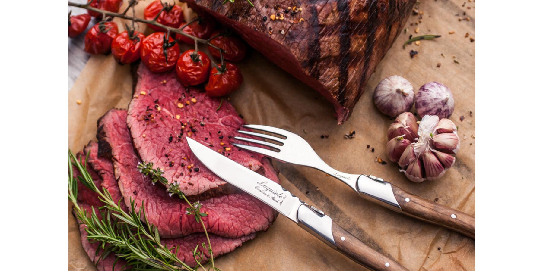 Luxury line vorken set  olijfhout
