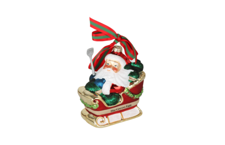 Big Green Egg Christmas ornament traditional - kerstbal
