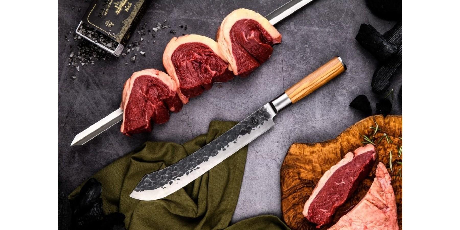 Olive Forged Butcher knife