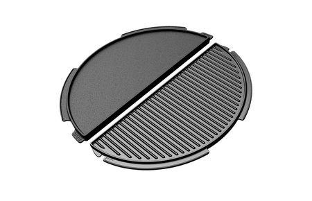 Big Green Egg Halve maan gietijzeren plaat - cast iron griddle