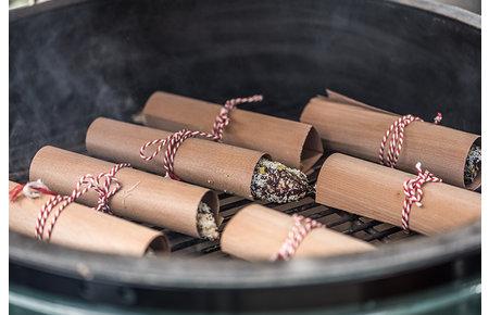Koken op hout Cederhouten ovenvellen