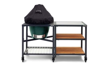 Big Green Egg Dome (deksel) cover voor BGE Large/XLarge in tafel