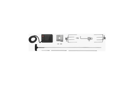 Napoleon Stainless Steel Heavy Duty Multi-Piece Rotisserie Kit with Square Spit Rod