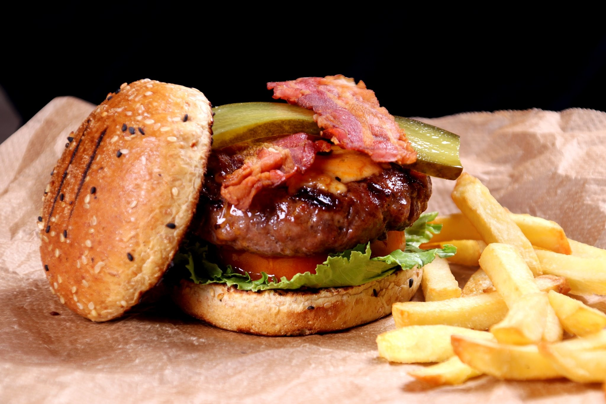 The Ultimate Big Black Angus Cheddar Jalapeño Cheese Burger