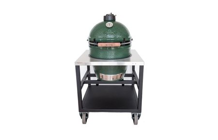 Big Green Egg Large in RVS tafel