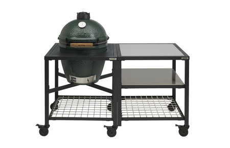 Big Green Egg Large in Egg Frame + Expansion Frame SS-SS-Grid