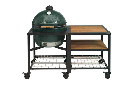 Big Green Egg XLarge in Egg Frame + Expansion Frame Wood-Wood-Grid