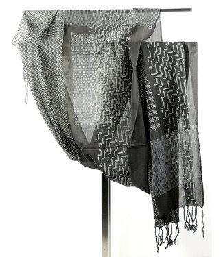 Brown scarf organic cotton