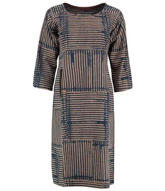 Brass Tacks Dress cotton blue striped