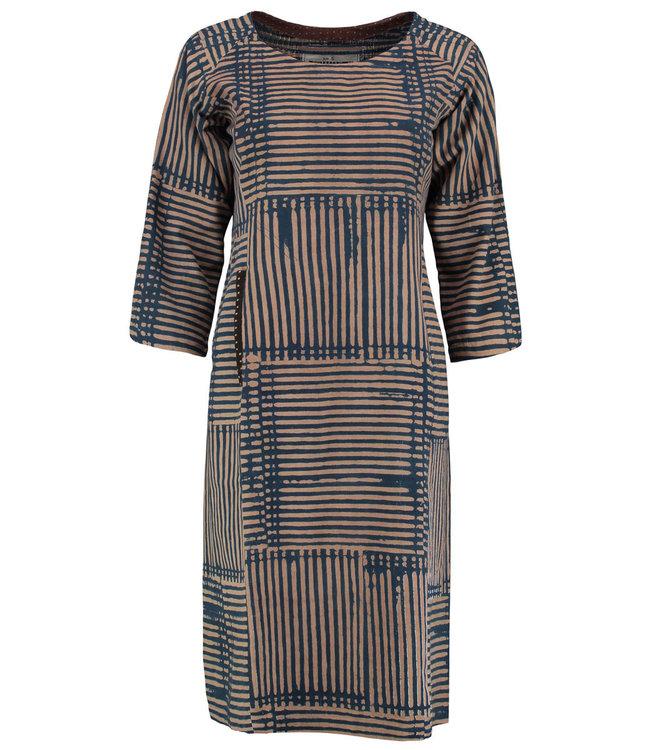 Brass Tacks Dress cotton blue striped