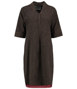 Brass Tacks Tunic cotton brown dots