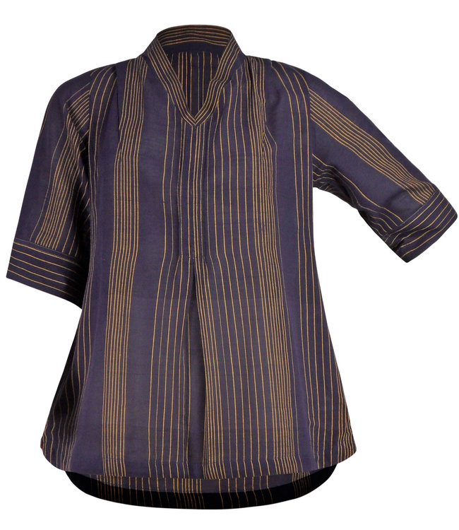 Brass Tacks Blouse katoen auberginekleur
