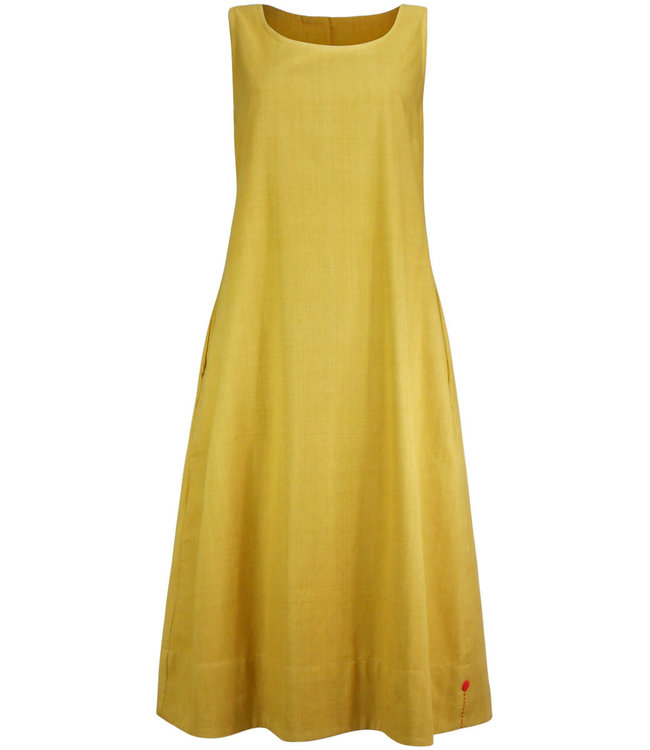 Upasana Cotton dress mustard yellow
