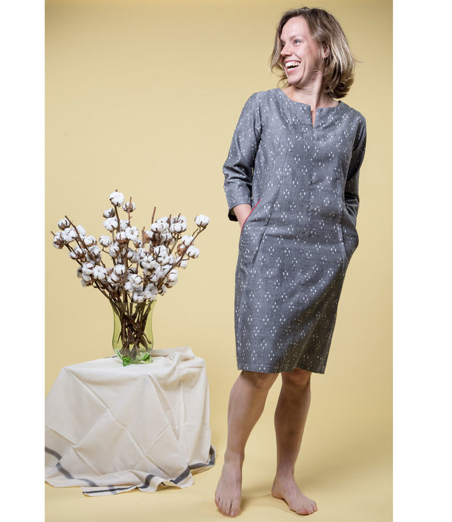 Cotton dress, grey