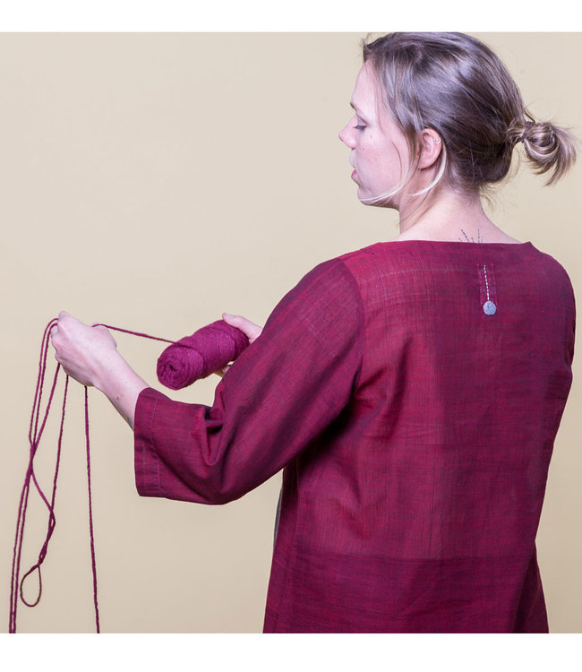 Pleated blouse red