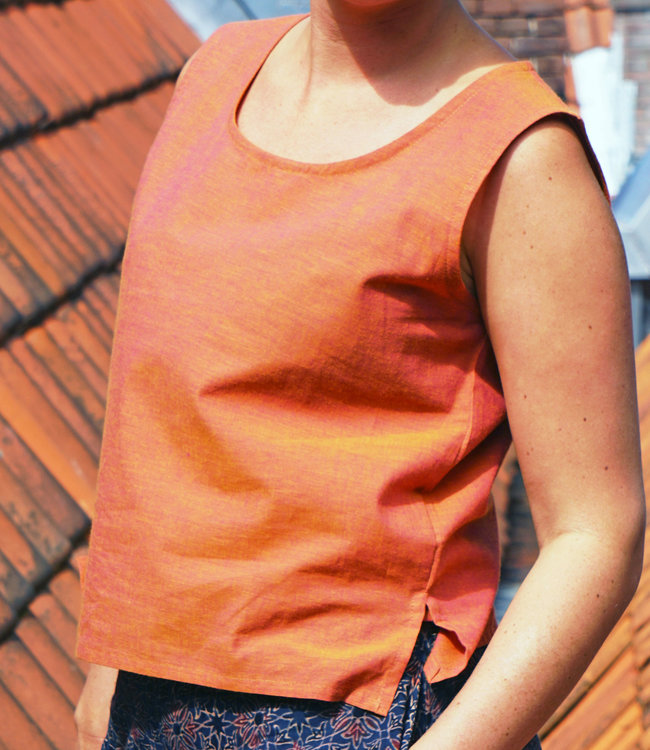 Upasana Organic cotton orange tank top