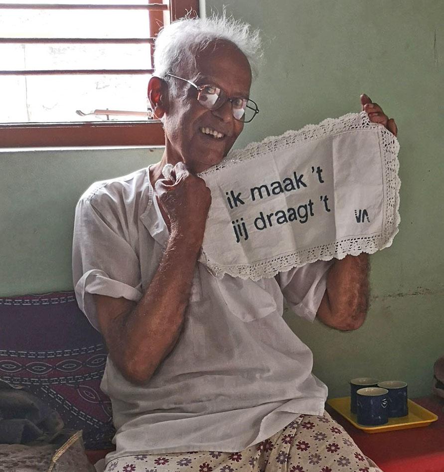 Alimohammed met kleedje Via India