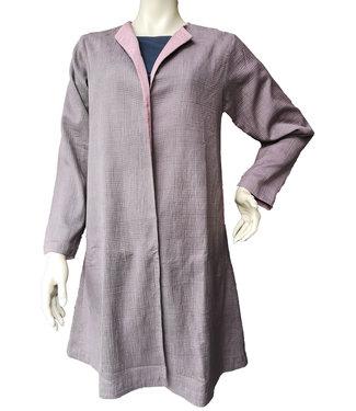 Mantel, zijde lavendelkleur