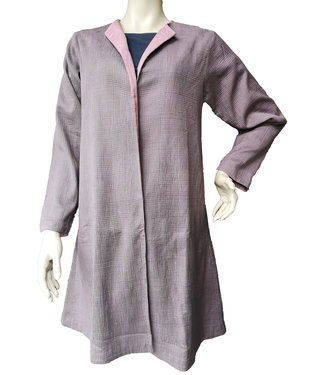 Silk coat lavender