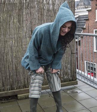 Wool coat blue, hoodie