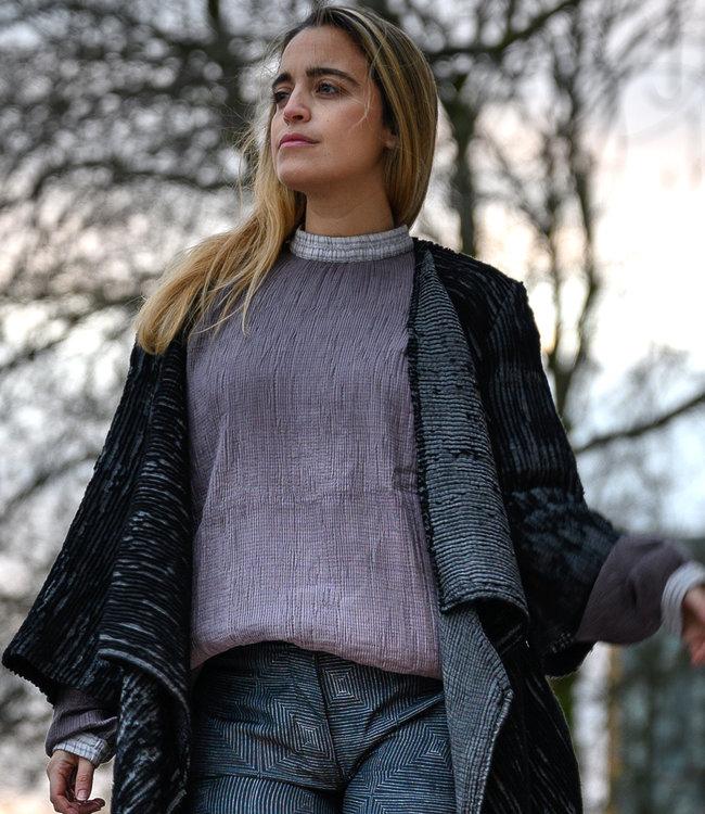 Akaaro Lavendel pullover, katoen en zijde
