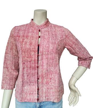 Cotton Rack Rood katoenen jasje