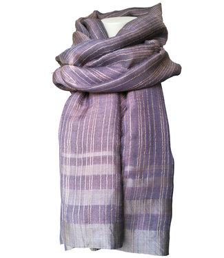 Amba Zijden sjaal, metallic lavendel