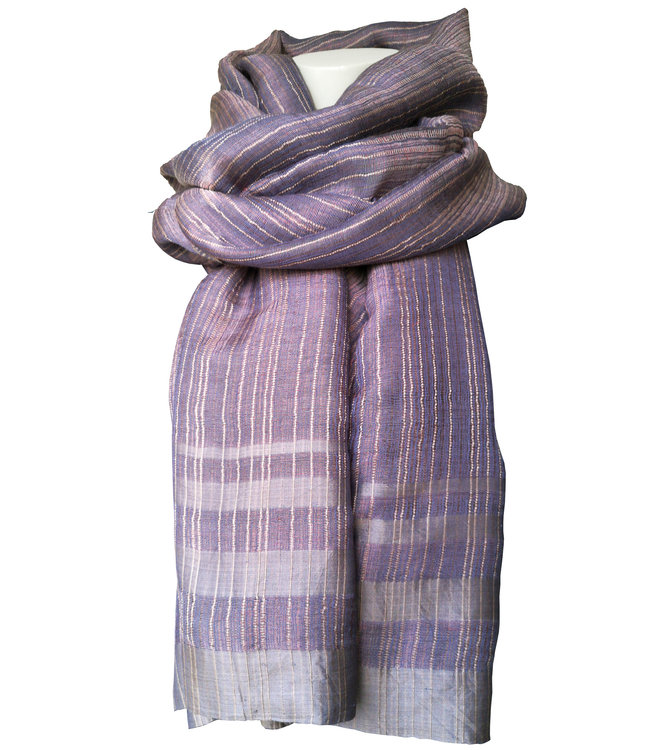 Amba Silk shawl, metallic lavender