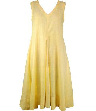 Upasana Mouwloze zomerjurk geel of groen
