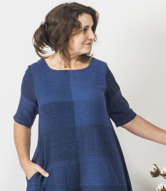 Padmaja Tunic, indigo blue, organic cotton